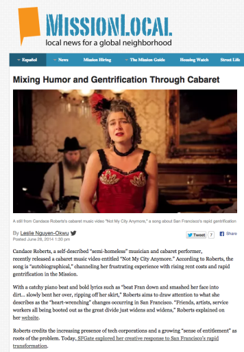 Mixing Humor and Gentrification Through Cabaret » MissionLocal
